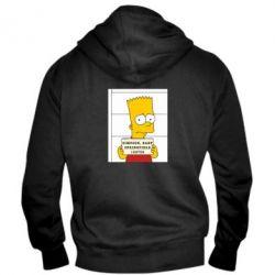 Мужская толстовка на молнии Барт в тюряге - FatLine