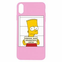 Чехол для iPhone X Барт в тюряге - FatLine