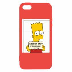 Чехол для iPhone5/5S/SE Барт в тюряге - FatLine