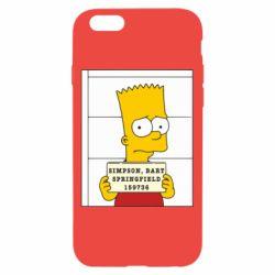 Чехол для iPhone 6/6S Барт в тюряге - FatLine