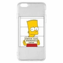 Чехол для iPhone 6 Plus/6S Plus Барт в тюряге - FatLine