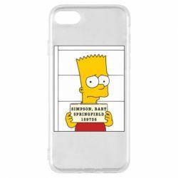 Чехол для iPhone 8 Барт в тюряге - FatLine