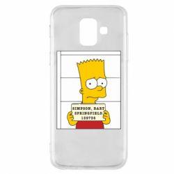 Чехол для Samsung A6 2018 Барт в тюряге - FatLine