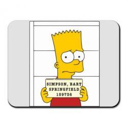 Коврик для мыши Барт в тюряге