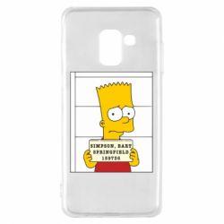 Чехол для Samsung A8 2018 Барт в тюряге - FatLine