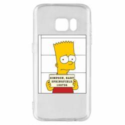 Чехол для Samsung S7 Барт в тюряге - FatLine