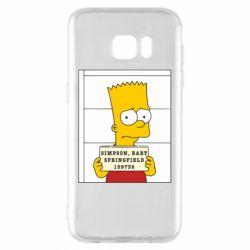 Чехол для Samsung S7 EDGE Барт в тюряге - FatLine