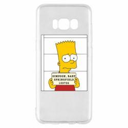 Чехол для Samsung S8 Барт в тюряге - FatLine