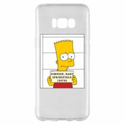 Чехол для Samsung S8+ Барт в тюряге - FatLine