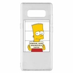Чехол для Samsung Note 8 Барт в тюряге - FatLine