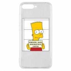 Чехол для Huawei Y6 2018 Барт в тюряге - FatLine