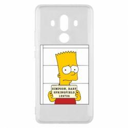 Чехол для Huawei Mate 10 Pro Барт в тюряге - FatLine