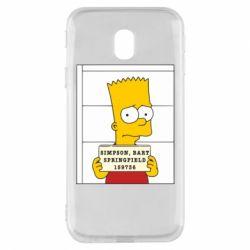 Чехол для Samsung J3 2017 Барт в тюряге - FatLine