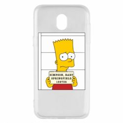 Чехол для Samsung J5 2017 Барт в тюряге - FatLine