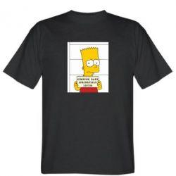 Мужская футболка Барт в тюряге