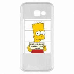 Чехол для Samsung A5 2017 Барт в тюряге - FatLine
