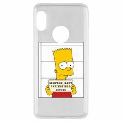 Чехол для Xiaomi Redmi Note 5 Барт в тюряге - FatLine