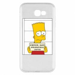 Чехол для Samsung A7 2017 Барт в тюряге
