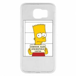 Чехол для Samsung S6 Барт в тюряге - FatLine