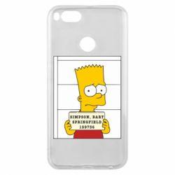Чехол для Xiaomi Mi A1 Барт в тюряге - FatLine