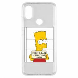Чехол для Xiaomi Mi A2 Барт в тюряге - FatLine
