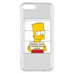 Чехол для Xiaomi Mi6 Барт в тюряге - FatLine