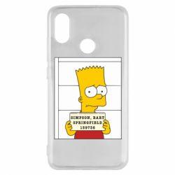 Чехол для Xiaomi Mi8 Барт в тюряге - FatLine