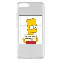 Чехол для Xiaomi Mi Note 3 Барт в тюряге - FatLine