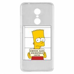 Чехол для Xiaomi Redmi 5 Барт в тюряге - FatLine