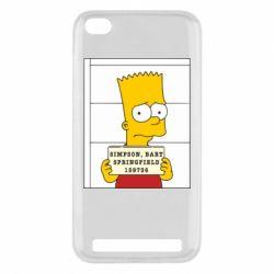 Чехол для Xiaomi Redmi 5a Барт в тюряге - FatLine