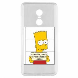 Чехол для Xiaomi Redmi Note 4x Барт в тюряге - FatLine