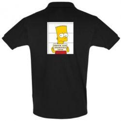 Мужская футболка поло Барт в тюряге