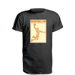 Подовжена футболка Basketball fan