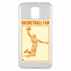 Чохол для Samsung S5 Basketball fan