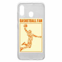 Чохол для Samsung A20 Basketball fan