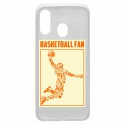 Чохол для Samsung A40 Basketball fan