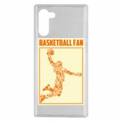 Чохол для Samsung Note 10 Basketball fan