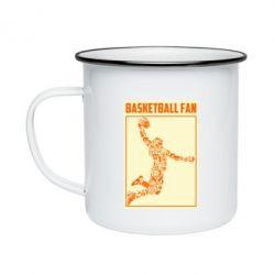 Кружка емальована Basketball fan