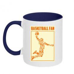 Кружка двоколірна 320ml Basketball fan