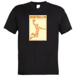 Чоловіча футболка з V-подібним вирізом Basketball fan
