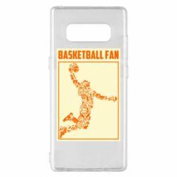 Чохол для Samsung Note 8 Basketball fan