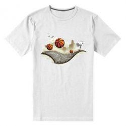Мужская стрейчевая футболка Basketball field