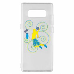 Чохол для Samsung Note 8 Basketball player and flowers