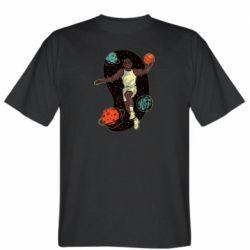 Мужская футболка Basketball player and space