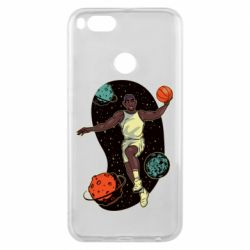 Чехол для Xiaomi Mi A1 Basketball player and space