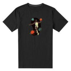 Мужская стрейчевая футболка Basketball player and space