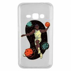 Чехол для Samsung J1 2016 Basketball player and space
