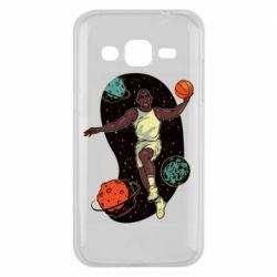 Чехол для Samsung J2 2015 Basketball player and space
