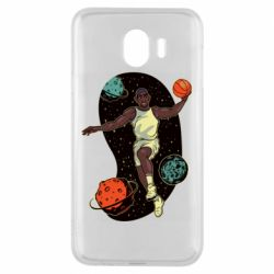 Чехол для Samsung J4 Basketball player and space