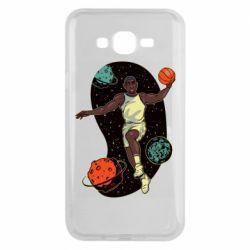 Чехол для Samsung J7 2015 Basketball player and space